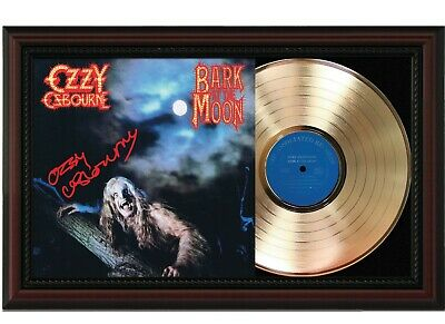 Ozzy Osbourne Framed Cherry Wood Reproduction Signature LP Record Display.  M4  • 143.63£