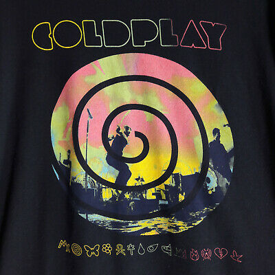 Coldplay Mylo Xyloto 2012 Navy Blue T Shirt Size M  • 9.99£