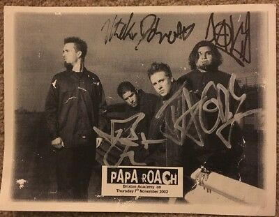 PAPA ROACH SIGNED 6 X4  PHOTO Signed At Brixton Academy London On 7th Nov 2002 • 49.99£