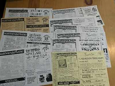 Original RICHARD SINCLAIR CARAVA PROG ROCK BAND 11 X Fanzine Sheets #9-15 #17-20 • 20£