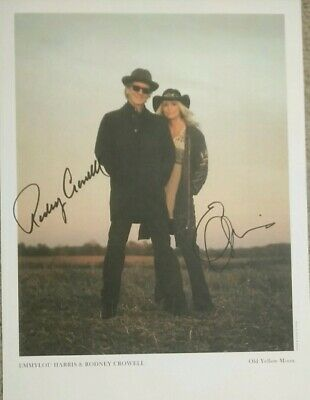 EMMYLOU HARRIS & RODNEY CROWELL Signed Promo Poster • 39.99£