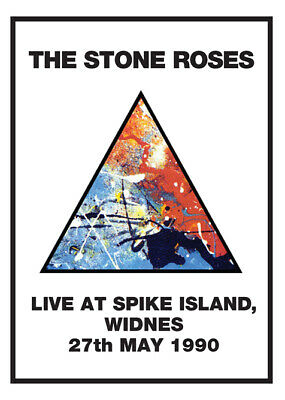 STONE ROSES At SPIKE ISLAND 1990 POSTER • 25£