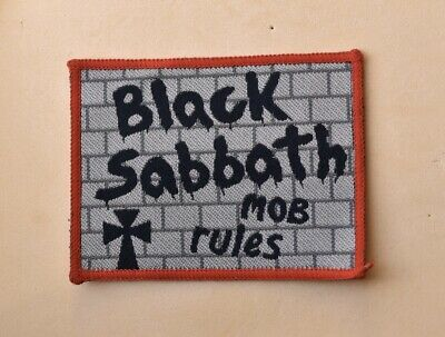 Vintage Black Sabbath Mob Rules Cloth Badge Patch Rock Music Band Ronnie Dio • 9.49£
