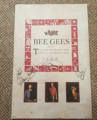 Bee Gees Tales From The Brothers Gibb Signed Promo Poster  • 275£