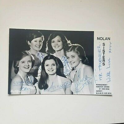 The Nolan Sisters Signed Promo Card  • 50£