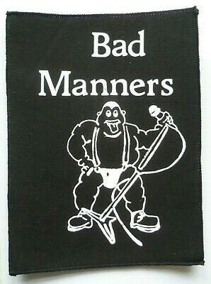 Large Vintage Bad Manners Jacket Cloth Patch Early 1980's Ska Music • 7£