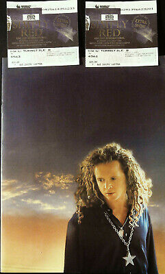 SIMPLY RED Summer 1992 TOUR PROGRAMME & 2 TICKETS To Wembley @VERY GOOD@ • 9.95£