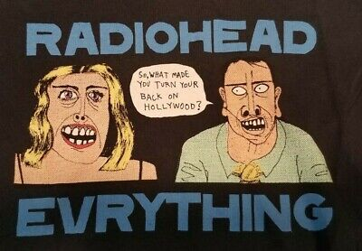 Vintage RADIOHEAD T Shirt M Medium Girl Cut Women Everything Band Concert Tour • 31.92£