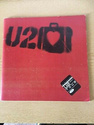 2001 U2 Elevation  UK Tour Programme Program With Sticker Sheet Insert • 19.75£