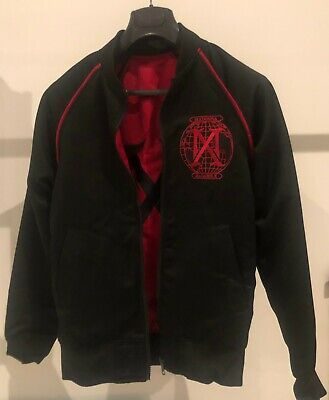 MADONNA MADAME X TOUR Red Black REVERSIBLE MONOGRAM JACKET OFFICIAL LIMITED NEW • 369£