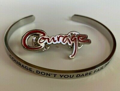 CELINE DION Jewelry VIP Courage Tour BRACELET + PIN Brand New  ~  FREE SHIPPING! • 15.95£