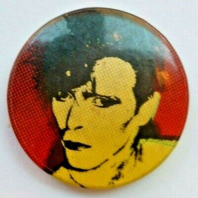 Vintage DAVID BOWIE Early 1980s Pin Badge British Rock Music Glam Ziggy Stardust • 4£