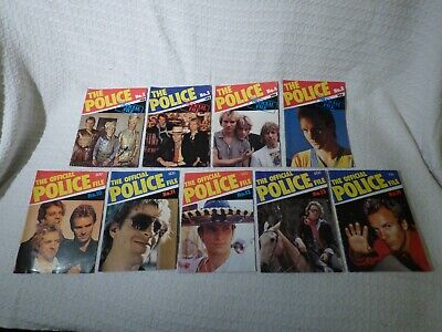 9 X The Police Band / Sting Official Police File Fan Magazines 1980/81 • 14.99£