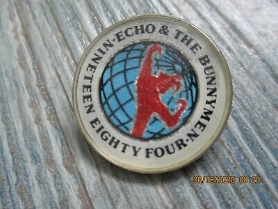 Echo And The Bunnymen 1984 Enamel Tour Badge • 3.20£