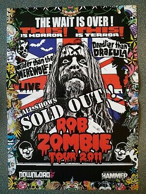 ROB ZOMBIE / RISE TO REMAIN Double-sided Poster • 5£