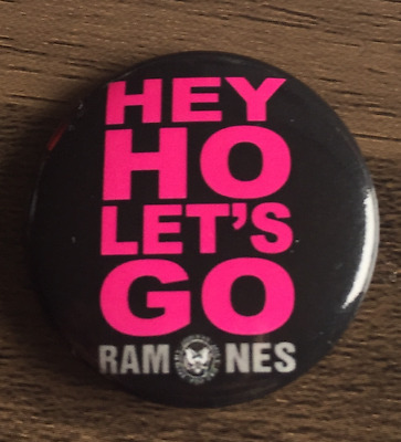 THE RAMONES Hey Ho Let's Go BUTTON BADGE American Punk Rock Band  25mm Pin • 2.25£