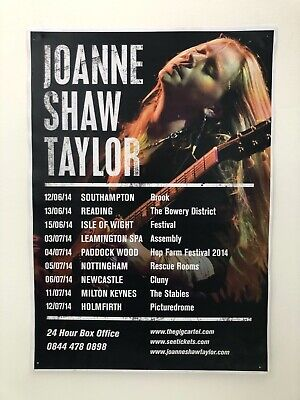 Joanne Shaw Taylor A3 Tour Poster UK 2014 • 3£
