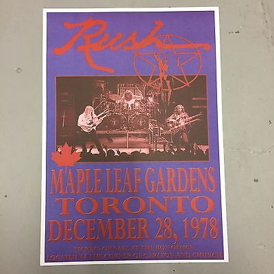 RUSH - CONCERT POSTER TORONTO 28th DECEMBER 1978 (A3 SIZE) • 2.99£