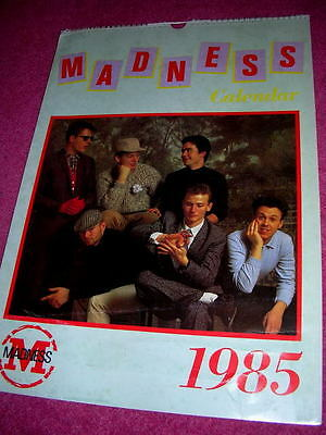 Madness - Official Calendar From 1985 - Suggs Ska Two 2 Tone Stiff Specials Cd • 24.99£