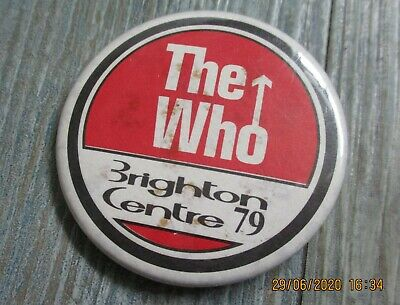 Vintage The Who Brighton Centre 1979  Badge, 6 Cm Diameter • 1.49£