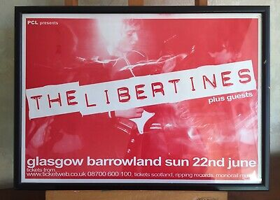 Peter Doherty/Libertines Poster Glasgow Barrowlands Framed And Glazed • 40£