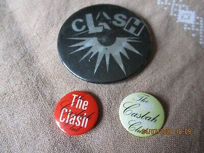 3 Vintage The Clash  Badges • 6.70£