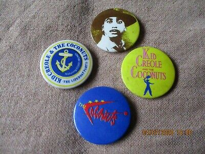4 Vintage Kid Creole And The Coconuts  Badges • 1.49£