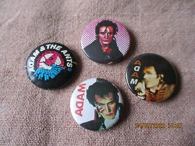 4 Vintage Adam & The  Ants  Badges • 1.49£