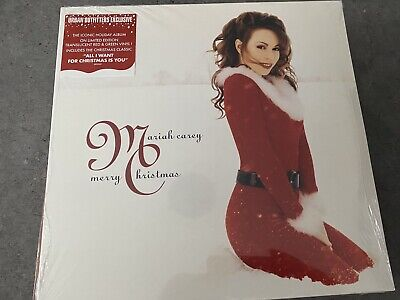 Mariah Carey Merry Christmas Urban Outfitters Red Green Vinyl LP Sealed • 50£