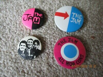 4 Vintage The Jam  Badges • 2.99£
