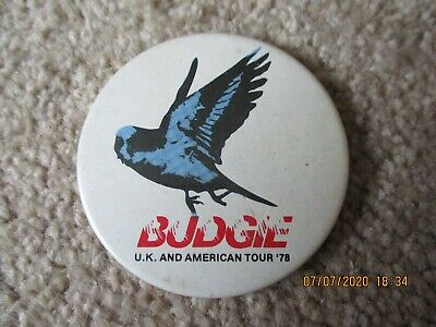 Large Vintage Budgie UK & American Tour '78  Badge • 1.49£