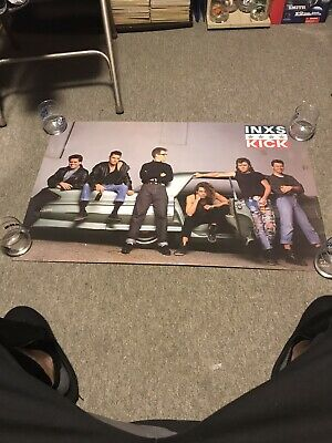 INXS POSTER Used 1987 RARE VINTAGE COLLECTIBLE OOP • 9.13£