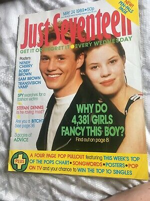 Just 17 Magazine 24 MAY. 1989. Posters NENEH CHERRY*BOBBY BROWN*TRANSVISION VAMP • 1£