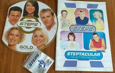 Steps X 2 Tour Programmes And X 3 Badges PWL GAY Interest • 15£