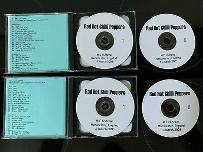 RHCP / RED HOT CHILLI PEPPERS - 3 X Live Shows; London + Manchester, England  • 15£