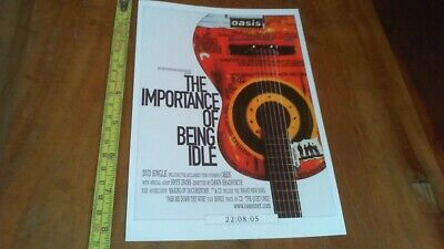 Oasis The Importance Of Being Idle -flyer -postcard -22/08 /05  • 4.95£