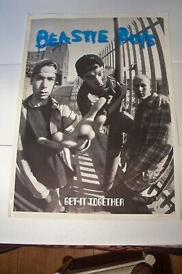 Rare Large 25x35 Beastie Boys Get It Together Poster Printed In Great Britain • 29.60£