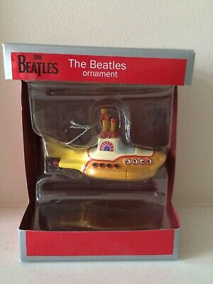 THE BEATLES VINTAGE YELLOW SUBMARINE ORNAMENT New In Box • 3.99£