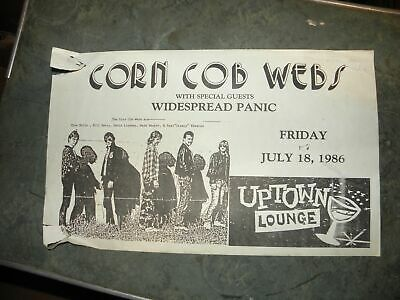 Corn Cob Webs / Widespread Panic 1986 Concert Flyer Authentic Original R.E.M. • 214.54£