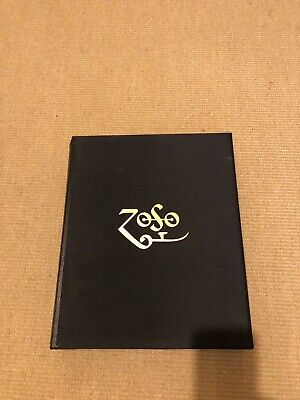 Jimmy Page Anthology Genesis Publications Signed Led Zeppelin Leather Book Zoso • 700£