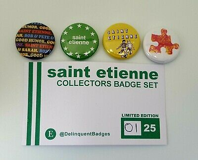 Saint Etienne Limited Edition Pin Badge Button Collectors Pack Sarah Cracknell  • 9.99£