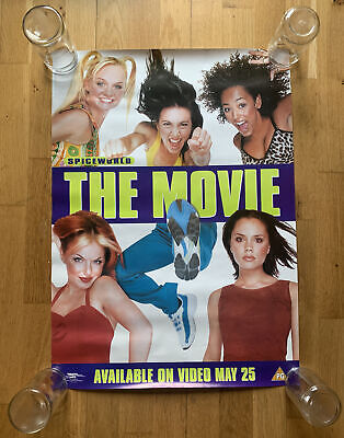 **Rare** Spice Girls Spiceworld The Movie Video Poster From 1998 70cm X 50cm • 34.99£