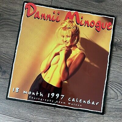 Dannii Minogue RARE 1997 Calendar Excellent CONDITION For Year (Kylie) • 39.99£