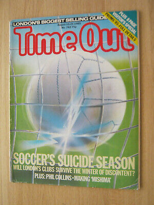 Time Out Magazine Aug 1985 Phil Collins • 5.99£