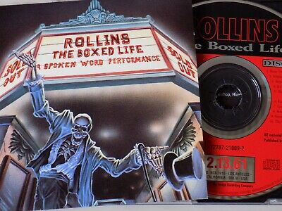 HENRY ROLLINS - The Boxed Life - Spoken Word 2 X CD 1992 IMAGO Excellent Cond! • 7.56£