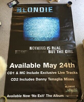 Blondie Nothing Is Real But The Girl Huge Subway Poster • 6.50£