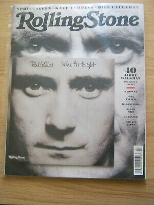 Phil Collins German Rolling Stone Magazine Includes 7 Inch In The Air Tonight • 14.99£