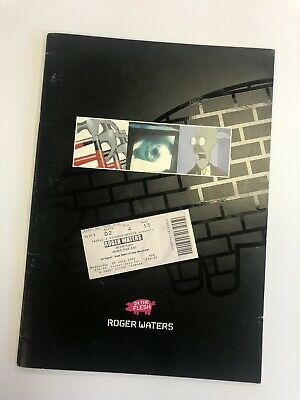 Roger Waters In The Flesh UK TOUR PROGRAMME 2002 + Wembley Ticket Stub • 4£