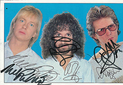 Barclay James Harvest Hand Signed By All 3 Early Promo Photograph  • 24.99£