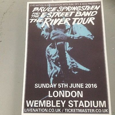 Bruce Springsteen - Concert Poster Wembley Stadium London Sunday 5th June 2016  • 2.99£